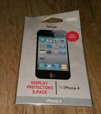 Display Protectors 3 Pack Fits Iphone4 Iphone 4 cover Verizon Wireless Cellphone