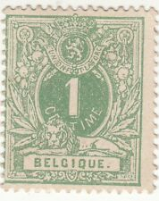 Belgium 1884. Olive Green. Definitive Issue 1c. Sg 67. Mh