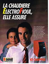 PUBLICITE ADVERTISING 124  1987  CHAPPEE  chaudière  ELECTROFIOUL