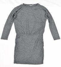 7057d3886f07 Athleta Womens Dark Gray Grey Semi Fitted Drape T Shirt Dress SZ S