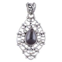 Solid 925 Sterling Silver Garnet Gemstone Pendant Necklace Jewelry P1800-2