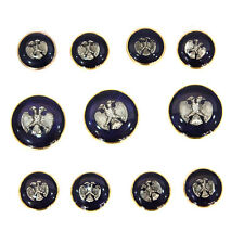Blue Metal Blazer Buttons Set For Suit Sport Coat Eagle pattern