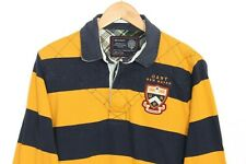 GANT Striped Cotton Polo Rugby Shirt Men Size M