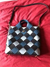 Michael Kors Large Blue Leather Tote Bag NWT