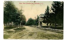 Allendale NJ - UPPER WEST ALLENDALE AVENUE AT GENERAL STORE-Handcolored Postcard