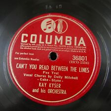 78 rpm KAY KYSER can`t you read between the lines / bell bottom trousers