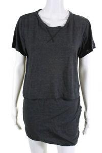 LNA Womens Mini Skirt Tee Shirt Gray Size Medium Large Lot 2