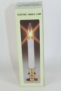 """Vintage Solid Brass Window Electric Candle Lamp Lights Wired On/Off Switch 9"""""""