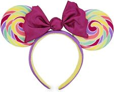 Disney Minnie Mouse Lollipop Swirl Candy Ears Costume party Headband USA Seller