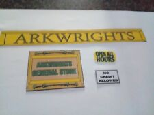1/12 Scale: Arkwrights Shop Signs for Dollshouse Miniature Display