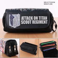 Anime Attack on Titan Stationery Case Pencil Case pen bag Make-Up Bag wallet