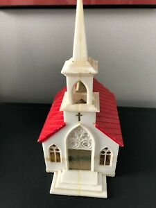 PLASTICVILLE CHURCH Red Roof glued together