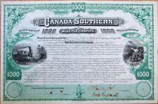 Cornelius Vanderbilt Ii Autograph 1880 Railroad Bond Certificate-Canada Southern