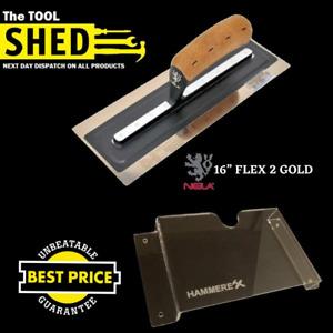"NELA FLEX 2 GOLD - Plastering Trowel 16"" Lowest Price Guaranteed +Wall Rack"