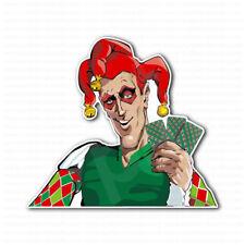 Jester Joker Poker Lucky Player Cards Sticker