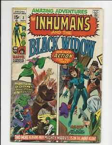 AMAZING ADVENTURES # 3 BLACK WIDOW & INHUMANS