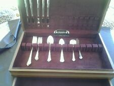 State House sterling Stately 25 pieces with original wooden case gently used