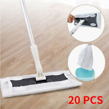 20*Wood Tile Laminate Floor Cleaner Static Cleaning Mop and Wet or Dry Wipes Go9