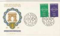 France 1959 Europa Philately Exhibition Slogan Cancels FDC Stamps Cover Ref26828