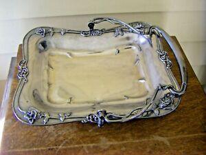 Vintage Wilcox Quadrupled Silver Plate Basket Tray