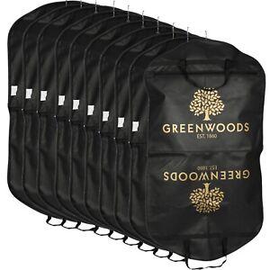 10x Black Strong Quality Suit Cover Clothes Dress Garment Carrier Travel Bag
