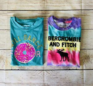 abercrombie Girls Donut And Tie Dye Shirts Size 11/12