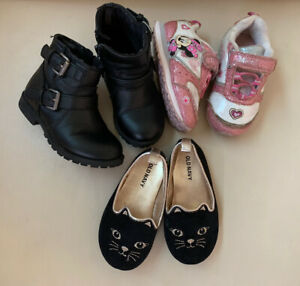 Toddler Girls shoes boots lot size 6