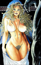 CAVEWOMAN BUDDS BEAUTIES AND BEASTS #1 Budd Root EXTREMELY RARE MEDUSA COVER NM