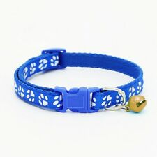 UK PAW PRINT CAT COLLAR WITH BELL Kitten Puppy Animal Pet Gift Idea