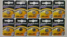 5 x 389 390 duracell oxyde d'argent montre piles 1.5V D389/D390/SR1130W genuine