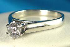 .48 CT Genuine Diamond Solitaire Ring - 14KT White Gold