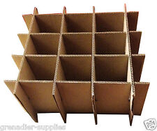 CARDBOARD BOX DIVIDERS FOR 9 BOTTLES, TINS OR GLASS MULTI PURPOSE PACKAGING