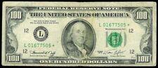 1974 SAN FRANCISCO $100 DOLLAR FEDERAL RESERVE BANK STAR NOTE FR# 2167-L*