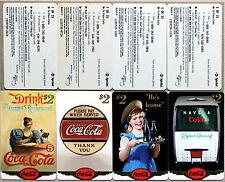 set of 25 mint SCORE BOARD COCA-COLA PHONE CARDS - COKE NATIONAL ´96 $ 2 GOLD