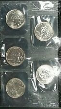 2001-D Uncirculated U.S. Denver Mint Coin Set, 10-Coins, 2-Sealed Soft Packs