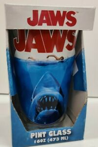 JAWS Pint Glass Tumbler - NEW (Licensed by Silver Buffalo)