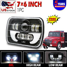 "5x7"" 7x6'' Rectangle LED Headlight Sealed Beam  RED For Freightliner FL50 60 70"