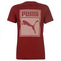 Puma Box QT Tshirt Casual Tee Red Dahlia Short Sleeve Mens UK size M Medium
