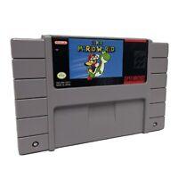 Super Mario World Authentic SNES Vintage retro classic Nintendo Game cartridge