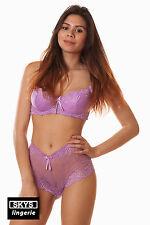 DONATELLA ensemble de lingerie soutien-gorge shorty coloris violet  taille 85D/S