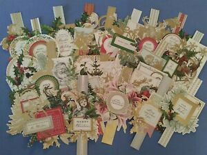 Anna Griffin Christmas Engravings Toppers Card Making Set of 25