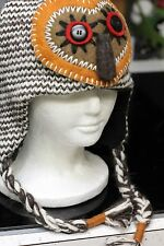 Artist Brown OWL HAT knit animal men womens ADULT costume LND toque beanie deLux