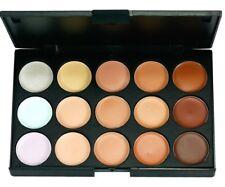 Hacer 15 color paleta corrector camuflaje sombra de ojos con 7pcs cepillo
