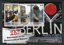 Liberia 2015 MNH Reunification of Germany 25th Anniv 3v M/S Berlin Wall Graffiti