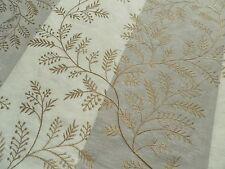 Zoffany Curtain Fabric DIXIE FERN - Calico/Pale Mauve Embroidered Stripe - 1.6m