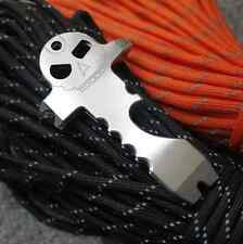SKULL Micro LEVA/widgy BAR portachiavi in acciaio inox per Bushcraft & SOPRAVVIVENZA EDC