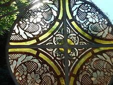 ANCIEN VITRAIL  ROND A SUSPENDRE /VITRAUX / XIX - XXéme / DIAMETRE 33,5 cm