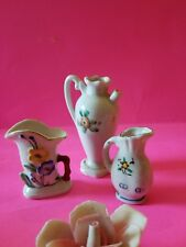 Lot of 3 Vintage  Assorted MADE IN OCCUPIED JAPAN- Vases-EUC