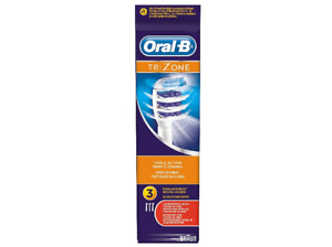 Recambio cabezal original de cepillo dental Oral-B EVE 303FFS TRIZONE. 3unidades