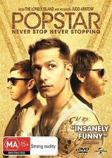 POPSTAR NEVER STOP NEVER STOPPING DVD NEW SEALED R4 2016 POP STAR